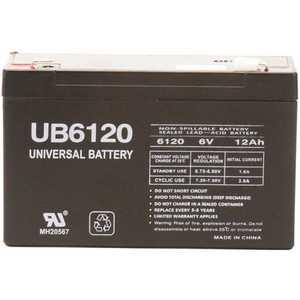 UPG UB6120 6-Volt 12 Ah F2 Terminal Sealed Lead Acid (SLA) AGM Rechargeable Battery