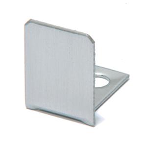 "U.S. Horizon Mfg., Inc. EC-12-C End Cap for High Profile ""U"" Channel Fit 1/2 Inch Glass Polished Chrome"