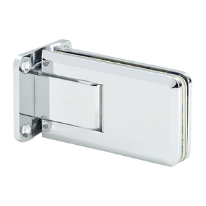 U.S. Horizon Mfg., Inc. H-CGTW-FP-C Crown Series Wall Mount Hinge With Full Back Plate Polished Chrome