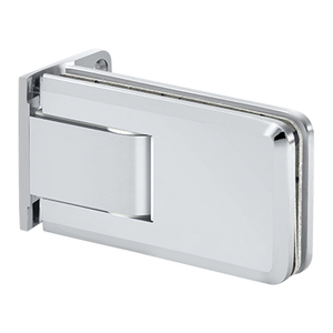 Crown Series Wall Mount Hinge With Offset Back Plate Polished Chrome
