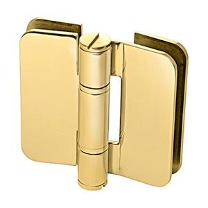 U.S. Horizon Mfg., Inc. H-I180GTGO-PB Imperial Glass To Glass Mount Shower Door Hinge 180 Degree & Outswing Polished Brass