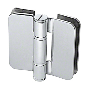 U.S. Horizon Mfg., Inc. H-I180GTGO-PS Imperial Glass To Glass Mount Shower Door Hinge 180 Degree & Outswing Polished Stainless Steel