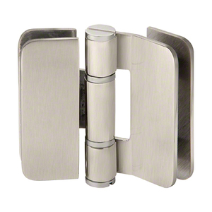 U.S. Horizon Mfg., Inc. H-I180GTGV-BN Imperial Series Glass-to-Glass Outswing or Bi-Fold w/Overlap Hinge 180 Degree Satin-Nickel