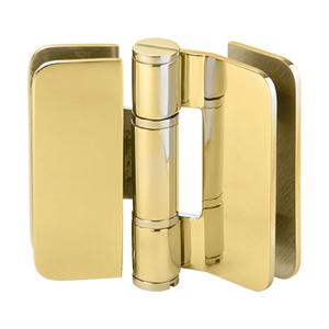 U.S. Horizon Mfg., Inc. H-I180GTGV-GP Imperial Series Glass-to-Glass Outswing or Bi-Fold w/Overlap Hinge 180 Degree 24K Gold