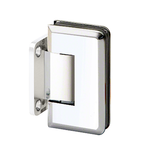 U.S. Horizon Mfg., Inc. H-MBGTWA-PB Adjustable Majestic Series Glass To Wall Mount Hinge With Short Back Plate Polished Brass