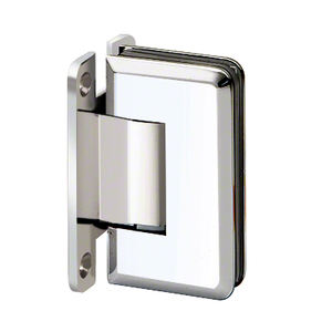 "U.S. Horizon Mfg., Inc. H-MBGTW-FP-C Majestic Series Glass To Wall Mount Shower Door Hinge With ""H"" Back Plate Polished Chrome"