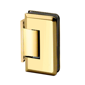 U.S. Horizon Mfg., Inc. H-MBGTW-OP-PB Majestic Series Glass To Wall Mount Shower Door Hinge With Offset Back Plate Polished Brass