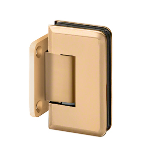 U.S. Horizon Mfg., Inc. H-MBGTW-SB Majestic Series Glass To Wall Mount Shower Door Hinge With Short Back Plate Satin-Brass