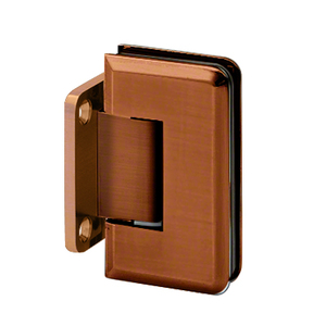 U.S. Horizon Mfg., Inc. H-MBGTW-VB Majestic Series Glass To Wall Mount Shower Door Hinge With Short Back Plate Brushed Bronze