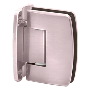 Brixwell H-R14GTW-FP-BP Radial Series Glass To Wall Mount Shower Door Hinge With Full Back Plate Brushed Pewter