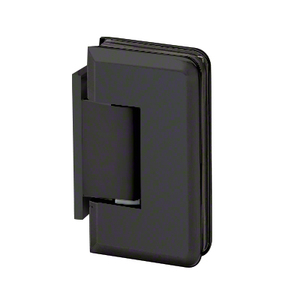 U.S. Horizon Mfg., Inc. H-MBGTW-OP-MB Majestic Series Glass To Wall Mount Shower Door Hinge With Offset Back Plate Matte Black