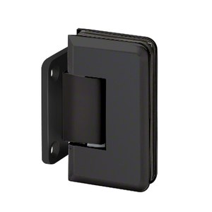 U.S. Horizon Mfg., Inc. H-MBGTW-MB Majestic Series Glass To Wall Mount Shower Door Hinge With Short Back Plate Matte Black