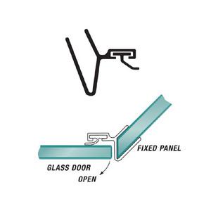 U.S. Horizon Mfg., Inc. P135SJ-38 95 Inches Stock Length Shower Door Strike Jamb 135 Degree & Fits 3/8 Inch Glass