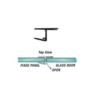 "U.S. Horizon Mfg., Inc. PHJC-516 180 Degree ""H"" Strike Jamb Fits 5/16 Inch Glass & W/Cushion Fin"