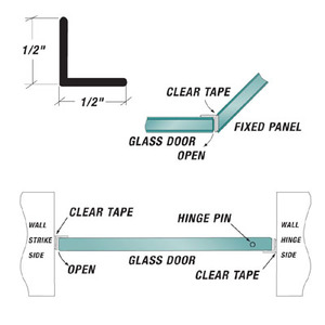 "US Horizon PLA-12 Multi-Purpose ""L"" Angle Jamb Fits For 1/4 To 1/2 Inch Glass"