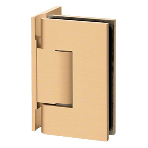 U.S. Horizon Mfg., Inc. HGTW0PSB Designer Series Shower Door Wall Mount Hinge With Offset Back Plate Satin-Brass