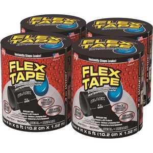 Swift Response TFSBLKR0405-CS FLEX SEAL FAMILY OF PRODUCTS Flex Tape Black 4 in. x 5 ft. Strong Rubberized Waterproof Tape
