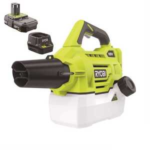 RYOBI P2850 ONE+ 18-Volt Lithium-Ion Cordless Fogger/Mister with 2.0 Ah Battery and Charger Included
