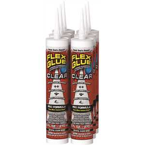 Swift Response GFSCLRR09-CS FLEX SEAL FAMILY OF PRODUCTS Flex Glue Clear 9 oz. Pro-Formula Strong Rubberized Waterproof Adhesive - pack of 6