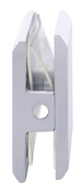 CRL BCU4CH Polished Chrome Beveled Hole-in-Glass Style Wall Mount Heavy-Duty Glass Clamp