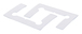CRL GEN4GKCLR Clear Gasket Replacement Kit for Geneva Hinges