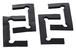 CRL GENGK1 Black Neoprene Geneva Hinge Replacement Gasket Pack with Fin