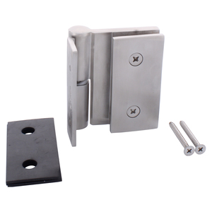 CRL GH037LBS Brushed Stainless Single Acting Left Hand Wall-to-Glass Gate Hinge