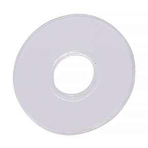 "CRL HW058 3/4"" Diameter Clear Vinyl Replacement Washer"