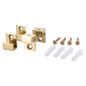 "CRL MC01BR Brass 5/8"" Wide Mirror Clip Set"