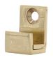 "CRL MC01BR Brass 5/8"" Wide Mirror Clip Set"