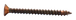 """CRL P102BC0 Brushed Copper 10 x 2"""" Wall Mounting Flat Head Phillips Sheet Metal Screws"""