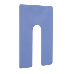 "CRL PHS36-XCP100 CRL Blue 1/16"" x 4"" Jumbo Size Plastic Horseshoe Shims - pack of 100"