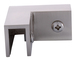 """CRL S0GC90BN Brushed Nickel 90 Degree """"Sleeve Over"""" Glass Clamp"""