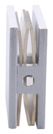 CRL SCU4CH Polished Chrome Square Style Hole-in-Glass Fixed Panel U-Clamp