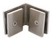 CRL SGC90BN Brushed Nickel Square 90 Degree Glass-to-Glass Clamp