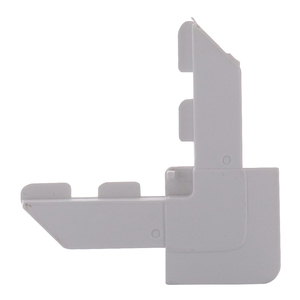 CRL SWSCL7W-XCP100 CRL White Square Lip Frame Plastic Corners for WSFL7 - pack of 100