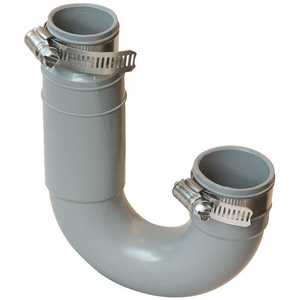 Ningbo Fenghui Metal Products FT-150 Fernco 1 in. - 1/2 in. Flexible PVC Clamp Drain Trap 4.3 PSI Grey