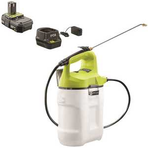 RYOBI P2830A ONE+ 18-Volt Lithium-Ion Cordless 2 Gal. Chemical Sprayer with 2.0 Ah Battery and Charger Included