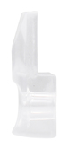 """CRL 803C-XCP100 CRL 1/8"""" Square Beveled Clear Plastic Mirror Clip - pack of 100"""