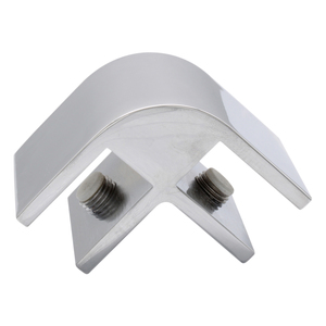 """CRL E212A Chrome Two-Way 90 Degree Standard Connector for 1/2"""" Glass"""