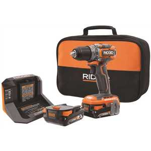 Techtronic Industries Co. R8701K RIDGID 18-Volt Brushless SubCompact Cordless 1/2 in. Drill Driver Kit with (2) 2.0 Ah Battery, Charger and Bag