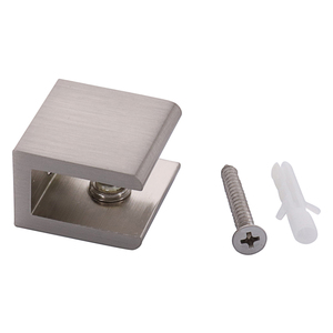 CRL FA10BN Brushed Nickel Square Interior Shower Shelf Clamp