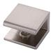 CRL FA10BN Brushed Nickel Square Interior Shower Shelf Clamp