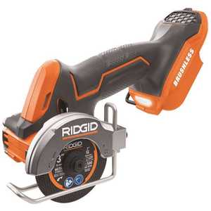 Techtronic Industries Co. R87547B RIDGID 18-Volt SubCompact Lithium-Ion Cordless Brushless 3 in. Multi-Material Saw (Tool Only) with (3) Cutting Wheels
