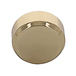 CRL MC02BR Polished Brass Round Mirror Clip Set