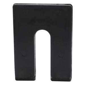"""CRL PHS34 Black 1/4"""" x 4"""" Jumbo Size Plastic Horseshoe Shims"""