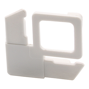 """CRL PL2W-XCP100 CRL White 5/16"""" Square Cut With Lift Tab Plastic Screen Frame Corner - pack of 100"""