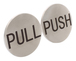 """CRL RPP2BS Brushed Stainless 2"""" Round Push/Pull Set - Etched Stainless Steel"""