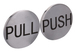 "CRL RPP2PS Polished Stainless 2"" Round Push/Pull Set - Etched Stainless Steel"