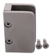 """CRL SA87FBS Brushed Stainless 3/8"""" Top Flat Base Glass Clip"""